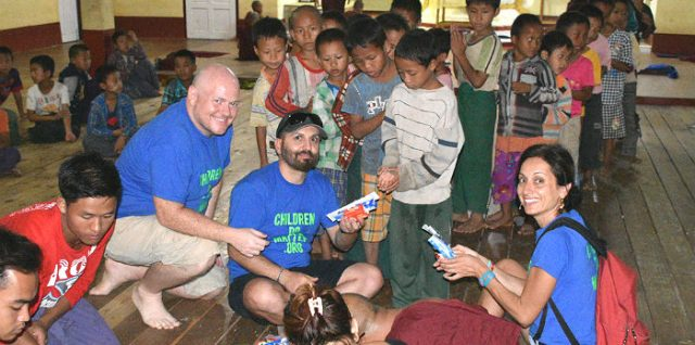 delivery of soaps toothpastes-toothbrushes at sasana orphanage - children do matter