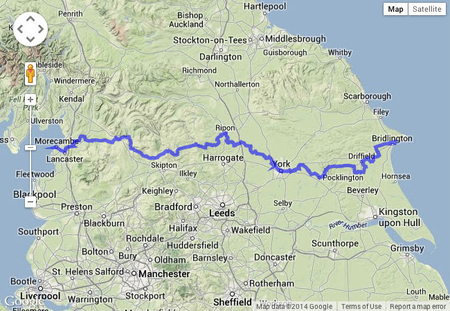the way of the roses cycle route map
