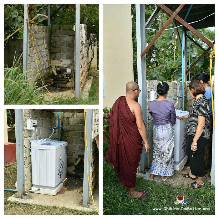 washing machine installation sasana orphanage myanmar - children do matter